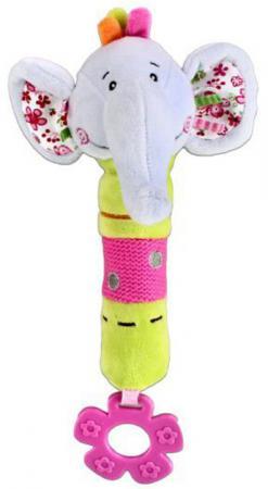 Пищалка-прорезыватель Жирафики Слонёнок Тим с 3 месяцев пищалка разноцветный мобили жирафики мобиль жирафики зоопарк музыкальный 2 режима