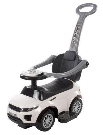 Каталка-машинка Baby Care Sport car пластик от 1 года с ручкой для родителей белый каталка машинка полесье джип с ручкой и гудком пластик от 1 года с ручкой для родителей голубой 62901