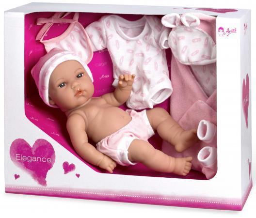 Купить Arias ELEGANCE кукла винил. 33 см. с пинетками, одеяльцем, одеждой, роз. цвет в корбке 37x13, 50x28, , Игрушки