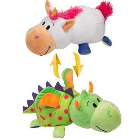 Мягкая игрушка вывернушка 1toy вывернушка единорог-дракон 40 см белый зеленый текстиль Т10930 мягкие игрушки 1toy мягкая игрушка 1toy вывернушка 20 см в асс