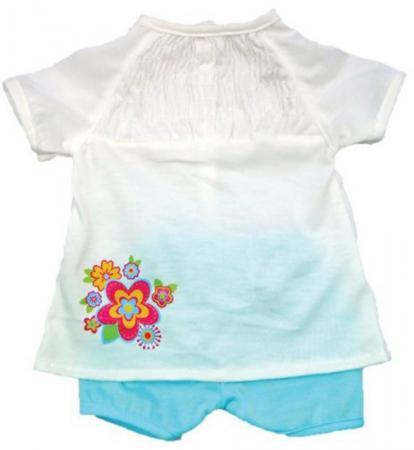 Одежда для куклы Mary Poppins 38-43см, белая кофточка и голубые штанишки 452077 mary poppins одежда для кукол кофточка и шорты