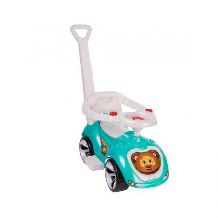 Каталка-машинка RT Мишка (LAPA) пластик от 10 месяцев на колесах бирюзовый каталка машинка kiddieland волшебная принцесса пластик от 18 месяцев на колесах розовый kid 043935veg