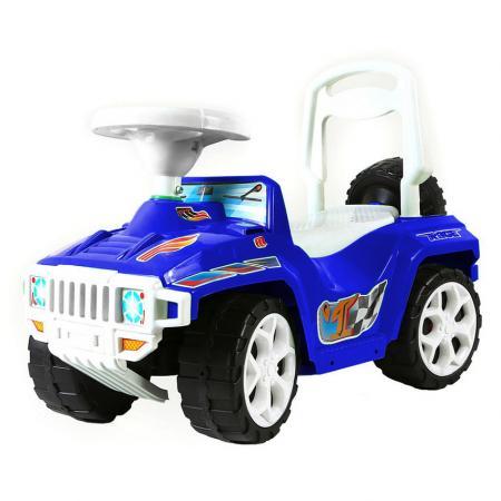 цена на Каталка-машинка RT RACE MINI Formula 1 Полиция пластик от 10 месяцев на колесах бело-синий