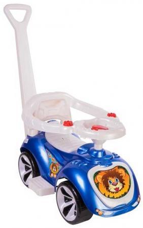 Каталка-машинка RT Мишка (LAPA) пластик от 10 месяцев на колесах синий stellar игрушка каталка машинка цвет синий