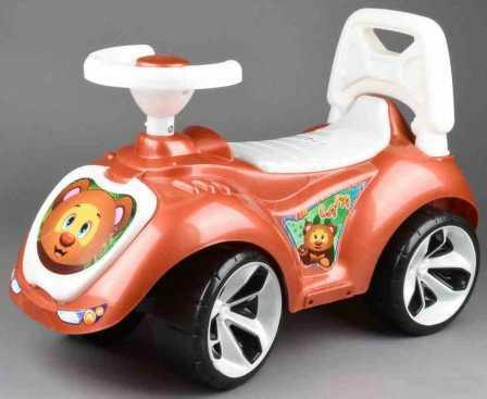 Каталка-машинка RT Мишка (LAPA) пластик от 18 месяцев на колесах бронза каталка машинка kiddieland волшебная принцесса пластик от 18 месяцев на колесах розовый kid 043935veg