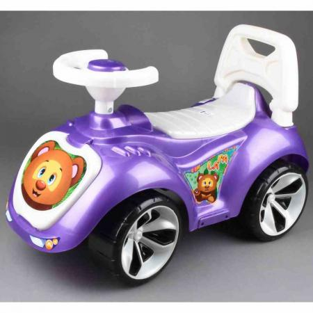 Каталка-машинка RT Мишка (LAPA) пластик от 18 месяцев на колесах фиолетовый каталка машинка kiddieland волшебная принцесса пластик от 18 месяцев на колесах розовый kid 043935veg