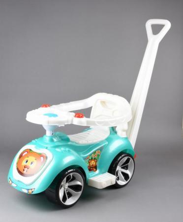 Каталка-машинка RT Мишка (LAPA) пластик от 10 месяцев на колесах бирюзовый