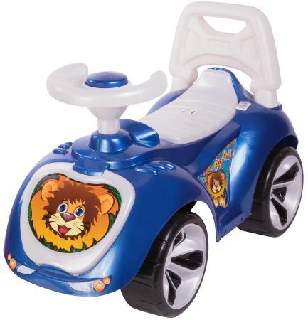 Каталка-машинка RT Мишка (LAPA) пластик от 18 месяцев на колесах синий каталка машинка kiddieland волшебная принцесса пластик от 18 месяцев на колесах розовый kid 043935veg