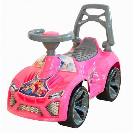Каталка-машинка RT Ламбо пластик от 10 месяцев на колесах розовый ОР021 каталка машинка kiddieland волшебная принцесса пластик от 18 месяцев на колесах розовый kid 043935veg
