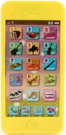цена на Интерактивная игрушка Shantou Gepai Телефон обучающий Музыкальные инструменты от 3 лет жёлтый 820