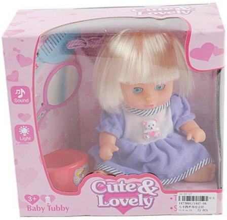 Кукла Shantou Gepai 20 см в голубом костюме, с аксесс., коробка 1407-06 кукла shantou gepai марта y4071640 32 см пьющая