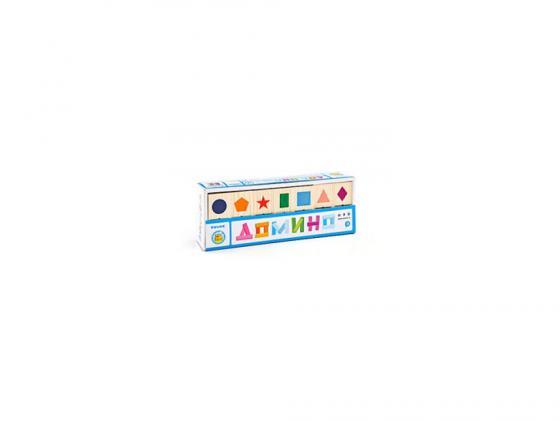 Настольная игра домино Томик Геометрические фигуры 5655-1 настольная игра томик домино игрушки 28 костяшек 5555 3