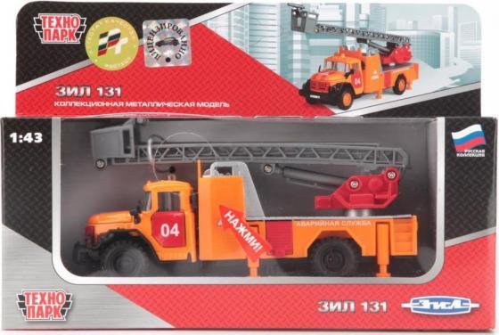 Спецтехника Технопарк ЗИЛ 131 АВАРИЙНАЯ 1:43 оранжевый CT10-001-FT1 игрушка технопарк автобус ct10 025 sb