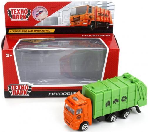 Мусоровоз Технопарк МУСОРОВОЗ зеленый 4017-R игрушка технопарк трамвай 1079bc r