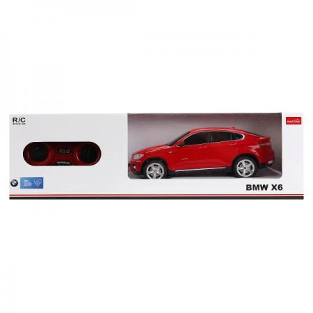МАШИНА Р/У RASTAR BMW X6 1:24 СО СВЕТОМ, ЦВЕТ В АССОРТ. В КОР. в кор.18шт машина р у rastar range rover evoque 1 24 цвет в ассорт в кор в кор 18шт