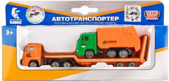 Транспортер Технопарк КАМАЗ оранжевый SB-17-06WB набор технопарк камаз зеленый sb 16 36