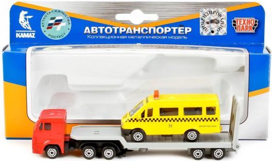 Набор Технопарк КАМАЗ АВТОТРАНСПОРТЕР + ГАЗЕЛЬ желтый SB-17-28WB технопарк автомобиль камаз автоспорт