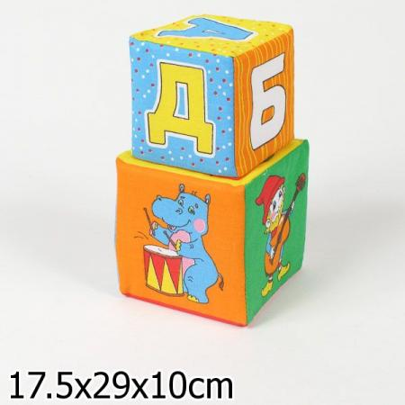 Кубики МЯКИШИ 170 АБВГДЕйка кубики обучающие мягкие мякиши лиса
