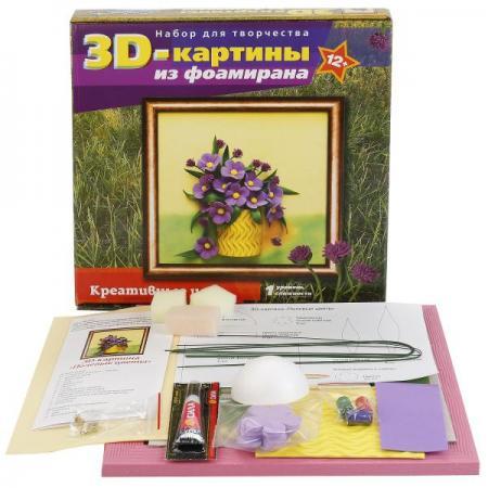 Набор ВОЛШЕБНАЯ МАСТЕРСКАЯ FM-03 3D Картина Полевые цветы цена в Москве и Питере