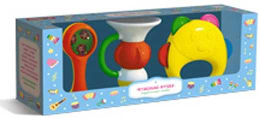 МУЗЫКАЛЬНЫЕ ИГРУШКИ НАБОР №1 в кор.7шт музыкальные игрушки meinl маракасы деревянные nino7pd b