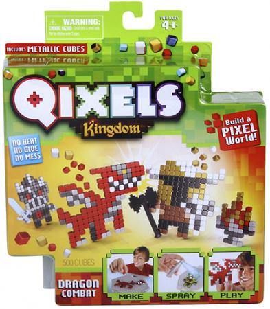 Набор для творчества Qixels Поединок с драконом от 4 лет 87108 набор для изготовления мыла фантазёр дружу с привидениями от 4 лет
