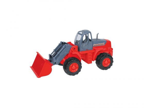 Полесье Трактор-погрузчик (в сеточке) полесье набор машинок самосвал volvo с полуприцепом трактор погрузчик цвет синий красный черный