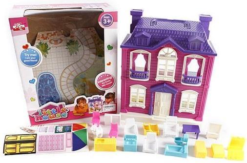 Дом для кукол Shantou Gepai Дом с мебелью 897 replace and choose домик для кукол летний дом вероника бело с мебелью
