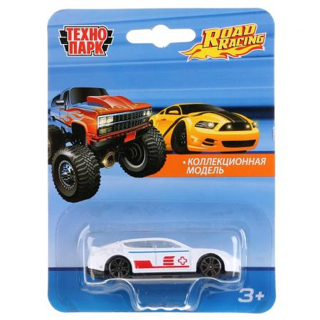 "ТМ Технопарк. Машина металл. ""ROAD RACING"", длина 7,5см, В АССОРТ. на блистере в кор.2*144шт"