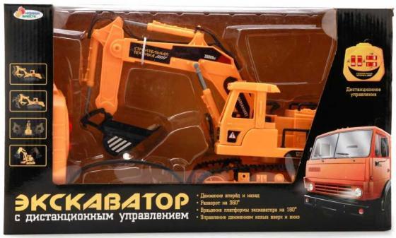 Экскаватор Пламенный мотор ЭКСКАВАТОР оранжевый B210818-R радиоуправляемые игрушки экскаватор