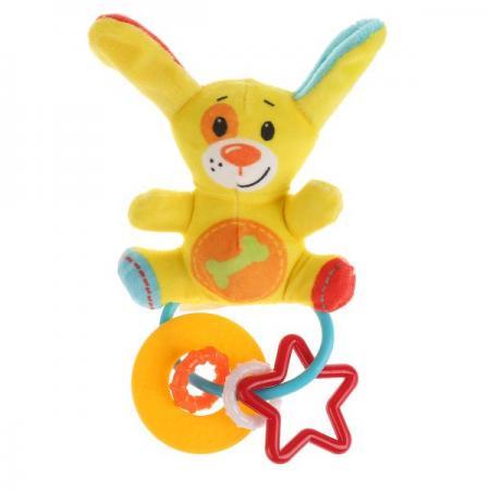 ИГРУШКА РАЗВИВАЮЩАЯ С ПОГРЕМУШКАМИ УМКА НА КАРТ. (РУСС. УП.) в кор.228шт желтый развивающая игрушка умка мой первый пульт