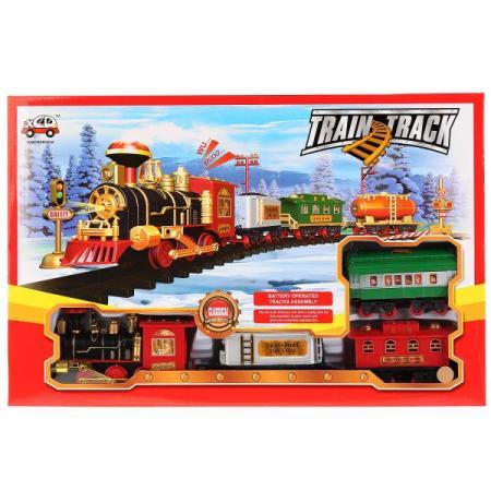 Железная дорога на бат., свет+звук, с аксесс. в кор. 13789 в кор. 2*12шт железная дорога на бат свет звук в кор в кор 2 12шт