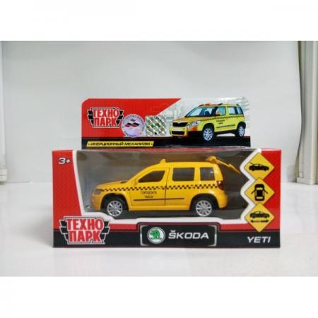 Инерционная машинка Технопарк SKODA YETI ТАКСИ желтый YETI-T машинка инерционная play smart подъемный кран р49201