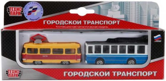 Тягач Технопарк ГОРОДСКОЙ ТРАНСПОРТ разноцветный SB-15-06-WB игрушка технопарк газ 66 с ракетой sb 16 78 2 wb