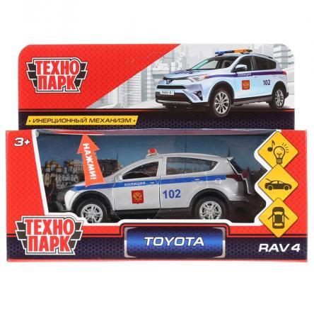 Автомобиль Технопарк TOYOTA RAV4 ПОЛИЦИЯ 12 см белый RAV4-P-SL игрушка технопарк бронемашина fy6158 sl