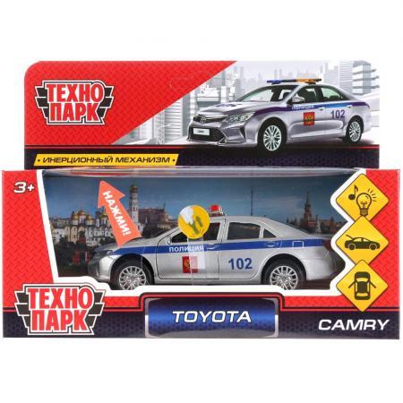 лучшая цена Полицейский пикап Технопарк TOYOTA CAMRY ПОЛИЦИЯ 12 см белый CAMRY-P-SL