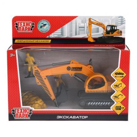 Экскаватор Технопарк ЭКСКАВАТОР 16 см оранжевый 921374-R радиоуправляемые игрушки экскаватор