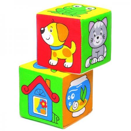 Кубики МЯКИШИ Чей домик 2 шт 111 кубики обучающие мягкие мякиши лиса