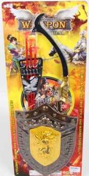 Набор оружия (лук со стрелами на присосках + щит) 541-1B5 на карт. в кор.2*30шт мини лук zing с двумя стрелами на присосках as911