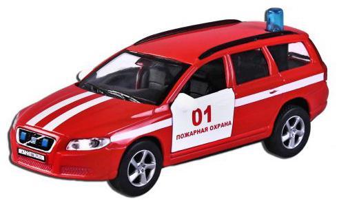 Машина Пламенный мотор Volvo V70 Пожарная охрана 13 см красный 870189 цены