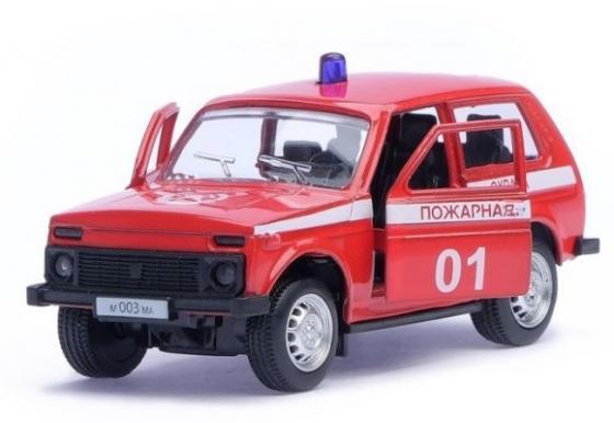 Пожарная машина Автопанорама Пожарная охрана красный 1200048 конструктор металлический пожарная машина 239 детали