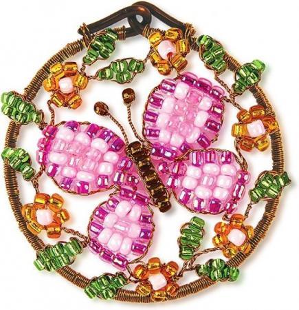 Набор для творчества Клевер Плетение кулона из бисера Рассвет АА 07-211 набор для творчества клевер цветы из бисера нежный ландыш аа 05 608