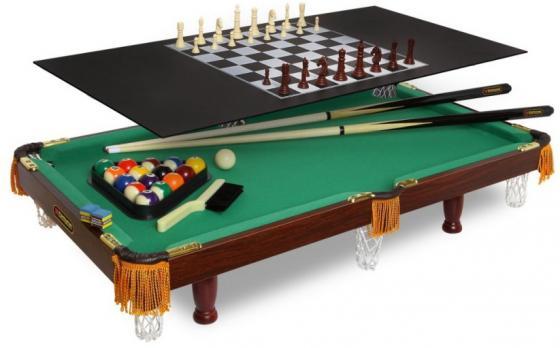 лучшая цена Настольная игра FORTUNA 07736 Бильярдный стол Пул 3фт 4 в 1