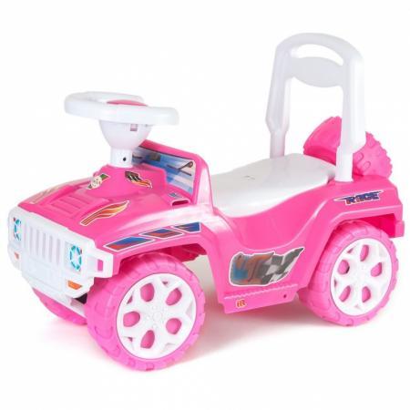 Каталка-машинка Orion Ориончик пластик от 2 лет на колесах розовый 419_розовая цена в Москве и Питере