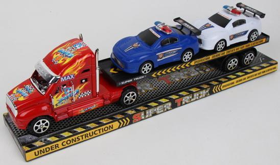 Набор машинок best toys Грузовой трейлер разноцветный набор машинок die cast полиция