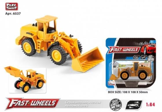 Машина металл. трактор с ковшом на карт. в кор. X600-H36015 крепыш трактор в кор 10шт