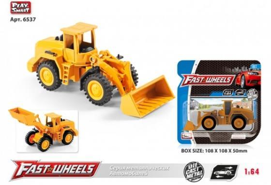 Машина металл. трактор с ковшом на карт. в кор.2*108шт X600-H36015 крепыш трактор в кор 10шт