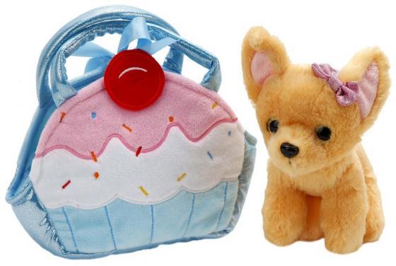 цена на Мягкая игрушка собака ИГРАЕМ ВМЕСТЕ Чихуахуа 19 см ткань CT181087-18B