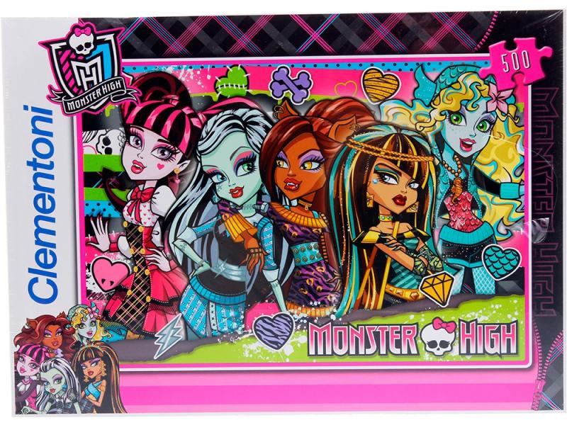 Пазл 500 элементов Monster High Странные и шикарные 30119 цена