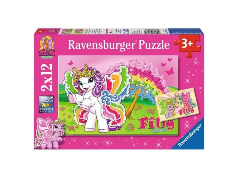 Пазл 24 элемента Ravensburger 2 в 1 Филли Принцесса Скарлет 075775