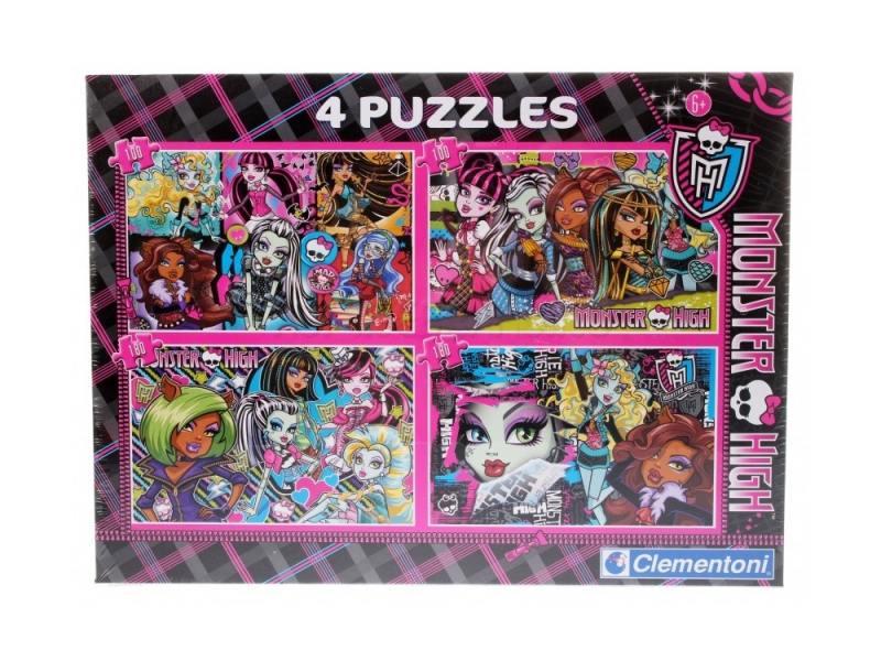 Пазл Clementoni Monster High (4 в 1) 180 элементов 08301 цена
